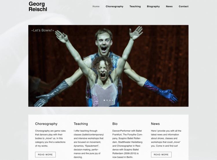 WordPress Portfolio Website fuer Choreograph Georg Reischl - WordPress Webdesign in Berlin