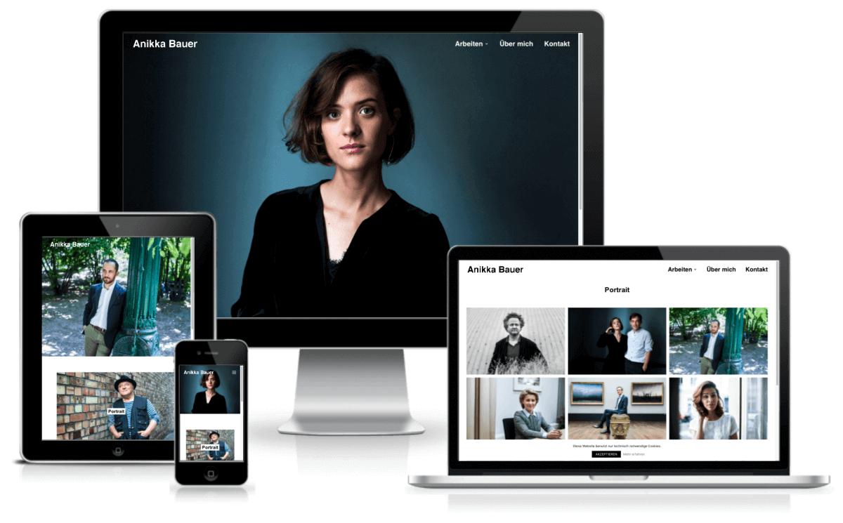 WordPress Portfolio Website fuer Fotografin Anikka Bauer – WordPress Webdesign in Berlin