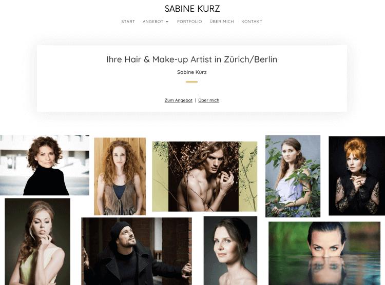 WordPress Portfolio Website fuer Visagistin und Make-up Artist Sabine Kurz - WordPress Webdesign Berlin