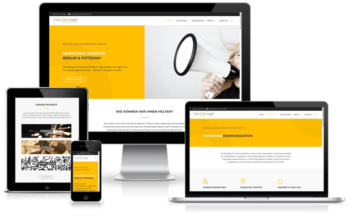 WordPress Website fuer Marketing Agentur - WordPress Webdesign und Hilfe in Berlin