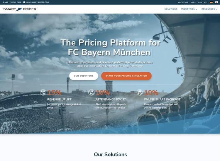 WordPress Entwicklung und Webdesign in Berlin für Smart Pricer GmbH