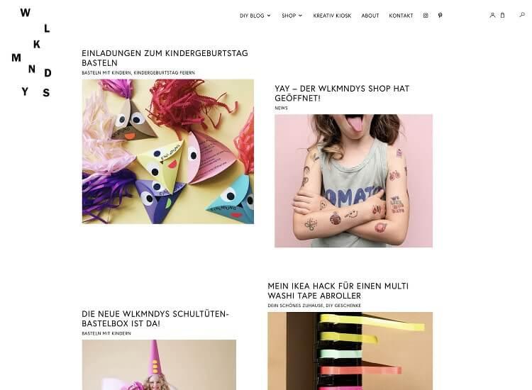 WordPress Webdesign für Blogs und Onlineshops: WLKMNDYS DIY Blog